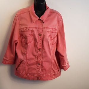 Jeanstar washout red jacket.